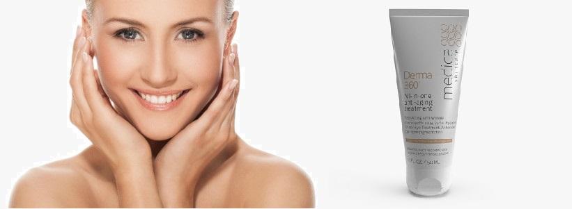 Atteindre une peau jeune avec une crème Derma 360